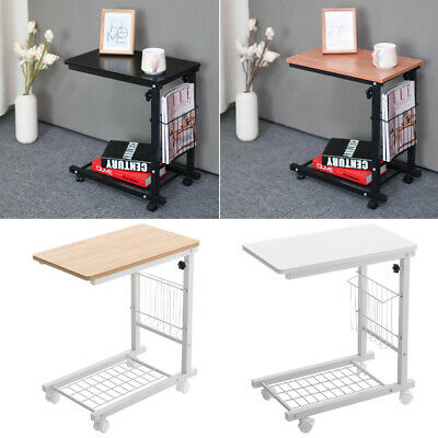 £22.95 • Buy C Shaped Sofa Side Table Snack Coffee Tray End PC Desk Adjustable Overbed Table