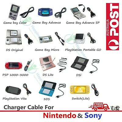 AU3.69 • Buy Charger Charging Date Cable For Nintendo & Sony Console 3DS Switch PSP PSV GBASP