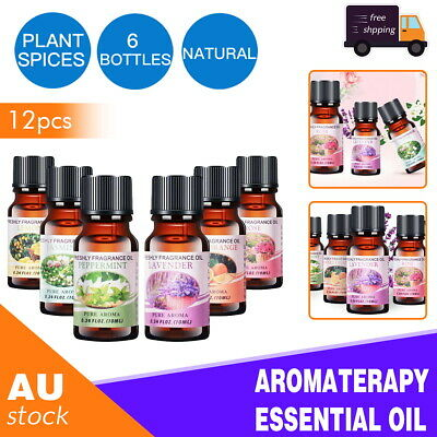 AU17.66 • Buy 12x Essential Oil 100% Pure & Natural Aromatherapy Diffuser Fragrance Oils Aroma