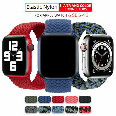 AU13.99 • Buy Solo Loop Braided Nylon Strap Elastic Band For Apple Watch Series 6 5 4 3 2 SE