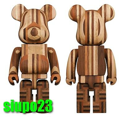 $2159.99 • Buy Medicom 400% Bearbrick ~ Karimoku Yosegi Be@rbrick Wood Wooden