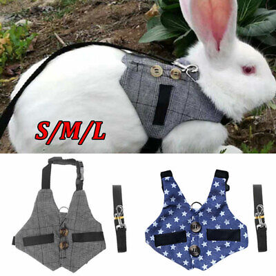 £5.69 • Buy Small Animal Harness Lead Adjustable Rabbit Squirrel Walking Vest For Pet Puppy