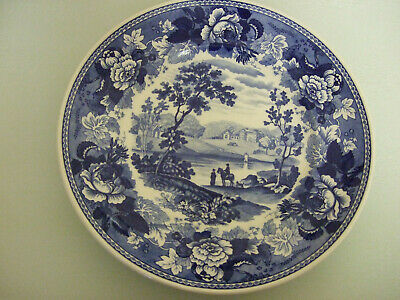£8 • Buy Wedgwood Queens Ware  Blue Landscape  Plate