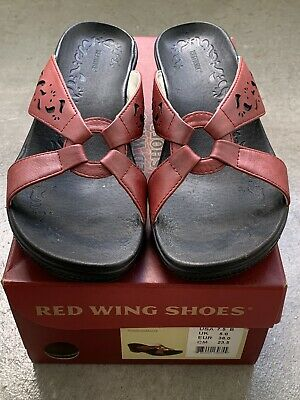 £15.19 • Buy Womens Red Wing Sandals Size 7.5 B/ Style 4726 Wanda Pomegranate/ Leather Upper