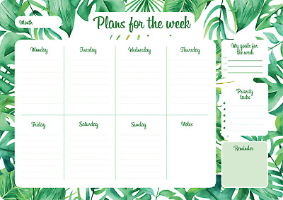 AU23.99 • Buy A4 Magnetic Weekly Planner Reusable Planner For Fridge Get Organised Dry Erase