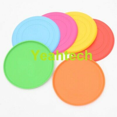 £3.85 • Buy Soft Rubber Summer Beach Frisbee Dog Pet Throwing Flying Disc Frisby Fetch Toy