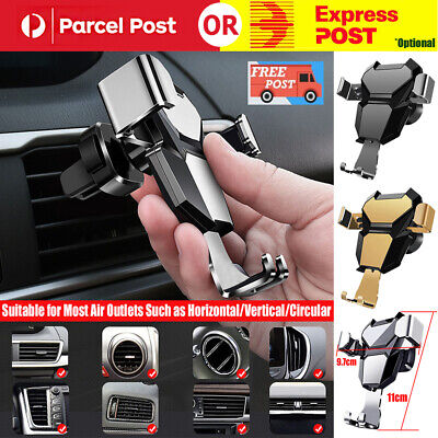 AU9.99 • Buy Universal Gravity Car Mount Auto Holder Air Vent Dashboard For Mobile Phone