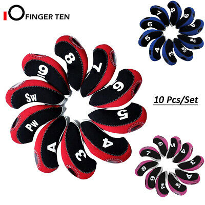 AU16.99 • Buy Golf Iron Covers 10Pack With Window Club Head Covers Home Practice Red Blue Pink