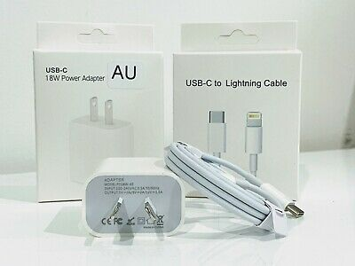 AU15.99 • Buy Fast Charger 18W USB-C Charger For Apple IPhone 12, 11, XS, X, 8, 7, 6 Pro Max
