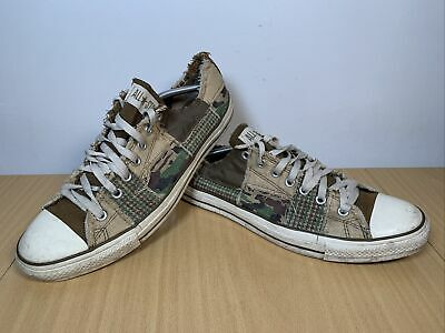 Converse Army Canvas Print Low Camouflage Trainers A01914F UK 13 EUR 48 • 29.95£