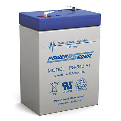 AU19.95 • Buy Power Sonic PS640 6V 4.5A SLA Rechargeable Battery F1 Terminal Sealed Lead Acid