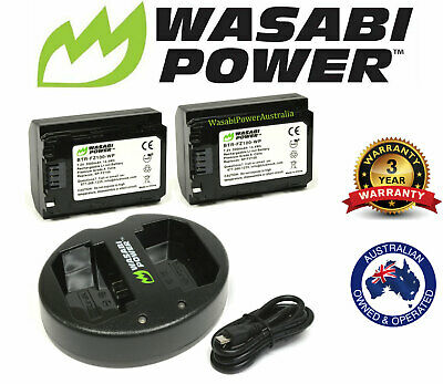 AU129.95 • Buy Wasabi Power Battery X2 And Dual USB Charger For Sony NP-FZ100,a9,a7R III,a7 III