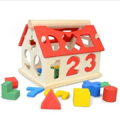 £7.79 • Buy Toys Digital House Shape Sorter Wooden Puzzle Toy Kids Early Educational Game UK