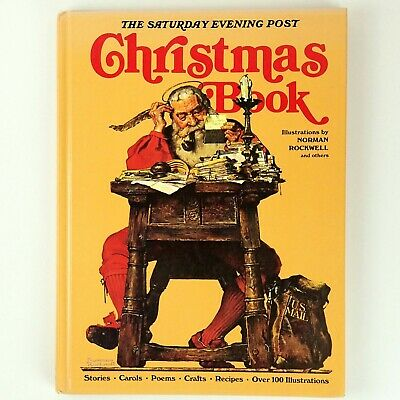 $ CDN20.40 • Buy Christmas Book The Saturday Evening Post Norman Rockwell Hardcover 1979