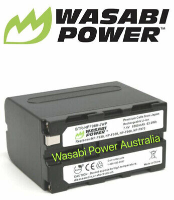 AU65.99 • Buy Wasabi Power Battery For Sony NP-F975, NP-F970, NP-F960, NP-F950 (8500mAh)