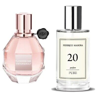FM 20 Womens Pure Parfum 50ml Inspired By Viktor & Rolf Flowerbomb For Her • 14£
