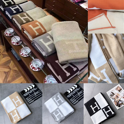 Artificial Wool Cashmere Warm Throw Sofa Plaid Blanket Shawl H Blanket 140X170CM • 30.99£