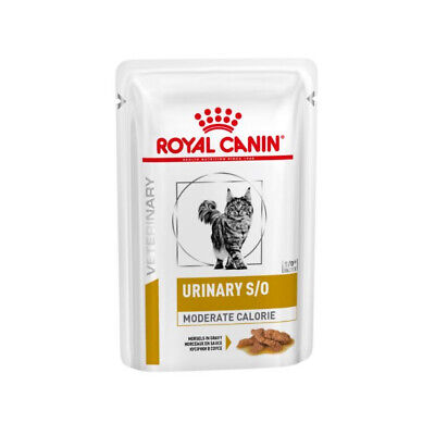 Royal Canin Urinary S/O Moderate Calorie VHN Cat Food 48 X 85g Pouches • 40.52£