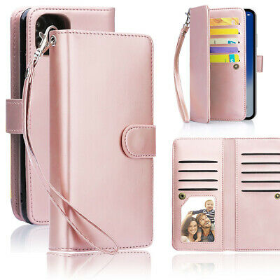 AU33.99 • Buy For IPhone 12 Pro Max Magnetic Leather Removable Wallet Card Case F Women/Girls