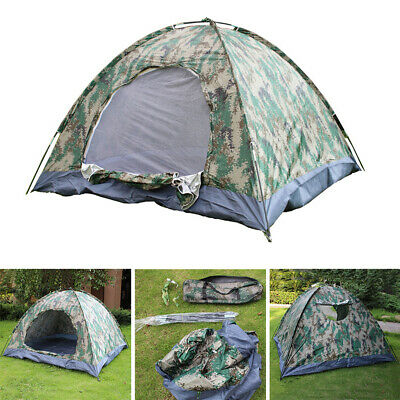 AU13.58 • Buy Waterproof Instant Pop-Up Camping Tent Family Hiking Camouflage 3-4 Person AU