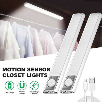 Human Body Infrared Induction LED Night Light Cabinet Closet Stair Wardrobe Lamp • 8.88£
