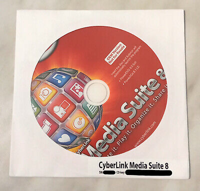 CyberLink Media Suite 8 For Windows 7, 8, 10 - New Unused With License Key. • 3.59£