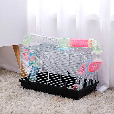Hamster Cage Pet Gerbil Mice Mouse Exercise Tubes Small Rodent Animal Play House • 23.95£