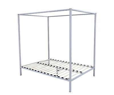 AU389.99 • Buy 4 Four Poster Queen Bed Frame Steel Construction Cream / Off White