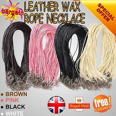 £2.99 • Buy Leather Necklace Lobster Clasp Rope Cord String For Pendants High Quality UK