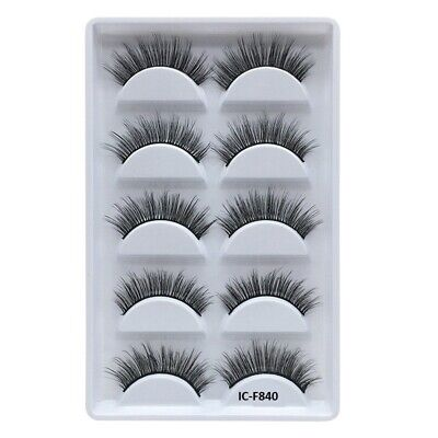 5 Pairs 3D Natural False Eyelashes Long Thick Fake Eye Lashes Makeup 3d Mink • 3.89£