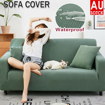 AU23.35 • Buy Super Stretch Sofa Cover Couch Lounge Protector Slipcovers 1/2/3/4 Seater Covers