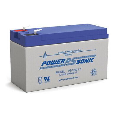 AU49.95 • Buy Power Sonic PS1290 12V 9AH Rechargeable Battery F2 Terminal Sealed Lead Acid