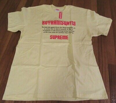 $ CDN94.61 • Buy Supreme Koyaanisqatsi Tee T-Shirt Size Large Pale Yellow FW20 Brand New DS 2020