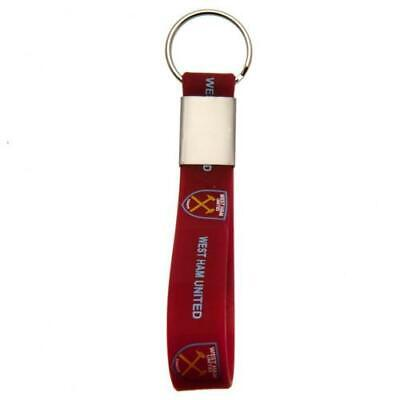£3.99 • Buy Official WEST HAM UNITED FC Silicone KEYRING Hammers Gift