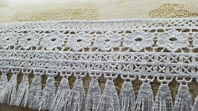 Guipure  Lace Trim In White , Ideal Embellishing Sewing 1 Metre • 2.99£