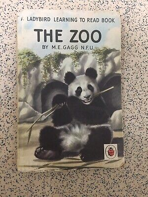 Vintage Ladybird The Zoo Learning To Read Book Series 563 M.E. GAGG Matt Board. • 5£