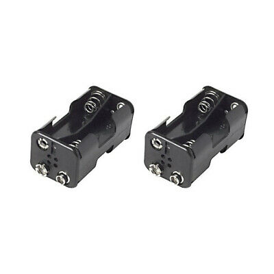 AU12 • Buy 2x Black UM3X4 AA Battery 57mm Holder/Storage W/ Snap Terminals/9V DC Connector