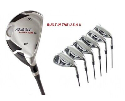 AU226.14 • Buy MEN'S RIGHT HAND AGXGOLF MAGNUM IRONS SET W #3 HYBRID IRON +5-PW IRONS & FREE SW