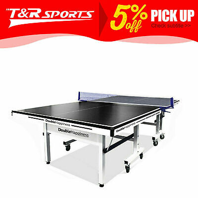 AU766.99 • Buy 2020 New 25mm Double Happiness Ping Pong Table Tennis Table Black Top