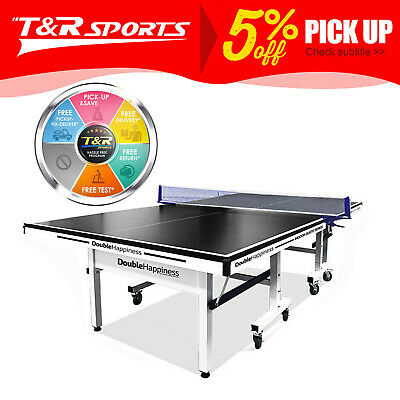 AU766.99 • Buy New 25mm Double Happiness Ping Pong Table Tennis Table Black Top