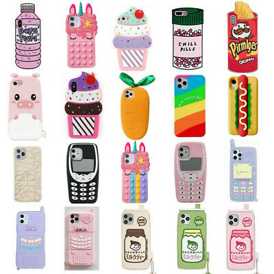AU5.97 • Buy Case For IPhone 12 11 Pro Max XR 8 7 6 Cute 3D Cartoon Soft Silicone Kids Cover