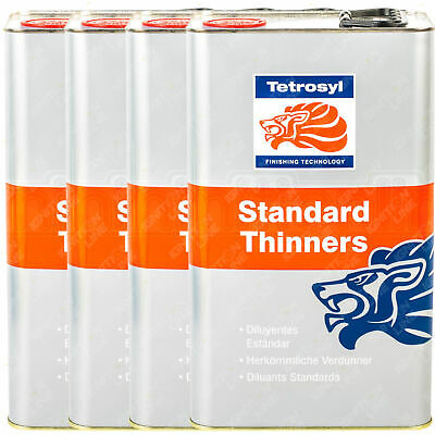 £43.99 • Buy 4 X Tetrosyl Standard Paint Thinners Cellulose Cleaning Cleaner Primer 5L