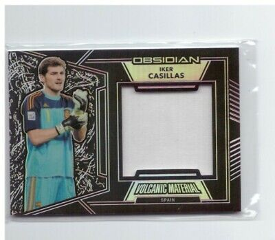 Obsidian Soccer Iker Casillas Volcanic Material Patch Spain Real /149 • 11.24£