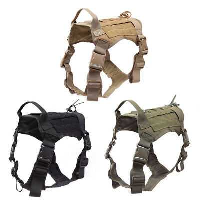 AU37.52 • Buy Durable Nylon Dog Harness Tactical K9 Working Dog Vest No Pull Training Vest Pet