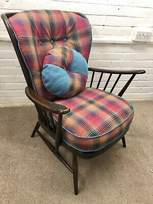 Vintage Ercol Windsor Chair  Fully Refurbished (new Cushions Covers, New Webbing • 399£
