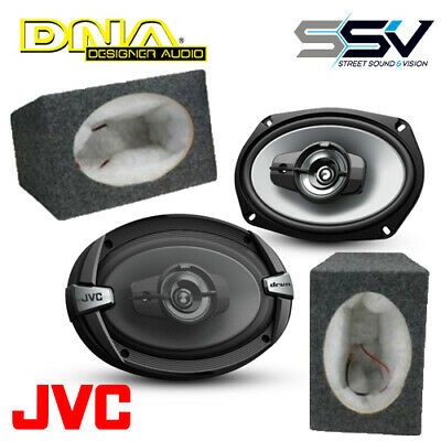 AU99 • Buy JVC CS-DR693 DR Series 6x9  3-Way Coaxial Car Speakers With 6X9 MDF BOXES (ASC69