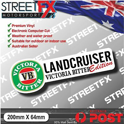 AU4.96 • Buy LANDCRUISER VB Edition Sticker Decal 4x4 4WD Beer Ute Truck Offroad For Toyota