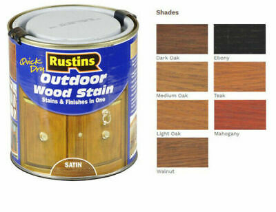 £9.99 • Buy Rustins Quick Dry Outdoor Exterior  WOOD STAIN Satin - Stains & Finishes In One