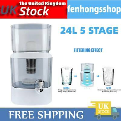 24L Water Dispenser Purifier Filter Bottle Container 5 Stage Filtration Machine • 36.99£