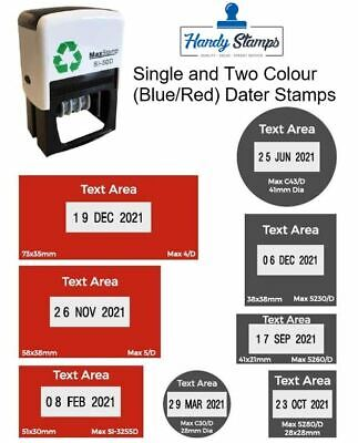 £33.99 • Buy 2 Colour Custom Dater Stamp - Self Inking Max Stamp Avaialble In 1 Or 2 Colours